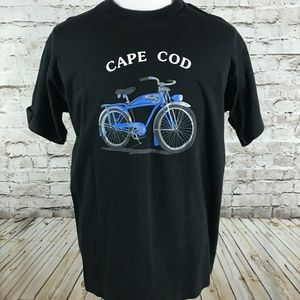 VTG Cape Cod Travel T-Shirt Size XL Bicycle